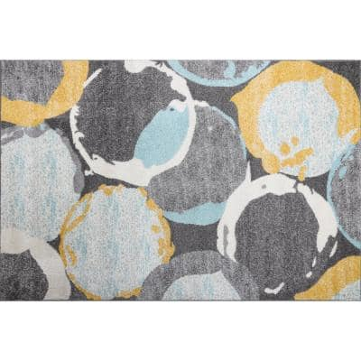 Theodora Gray2 ft. x 3 ft. Scatter Area Rug