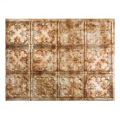 18.25 in. x 24.25 in. Traditional #10 Vinyl Backsplash Panel in Bermuda Bronze (5-Pack)