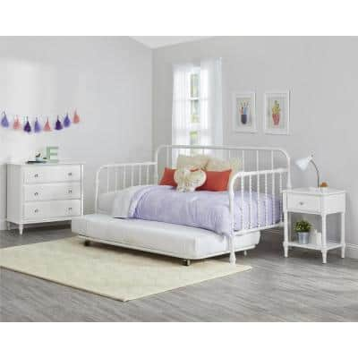 Monarch Hill Wren White Twin Size Metal Daybed with Trundle
