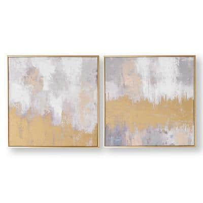 "20 in. x 20 in. ""Laguna Mist"" Framed Canvas Wall Art"