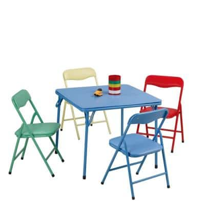 5-Piece Kids Table and Chair Set, Multicolor