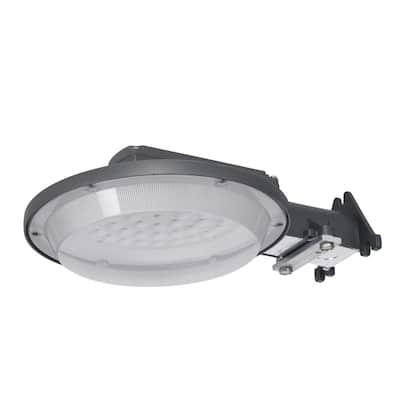 44-Watt Equivalent 5000 Lumens Integrated LED Gray Barn Light with Dusk to Dawn Sensor