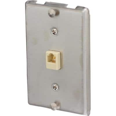 Universal Phone Wall Jack, Silver