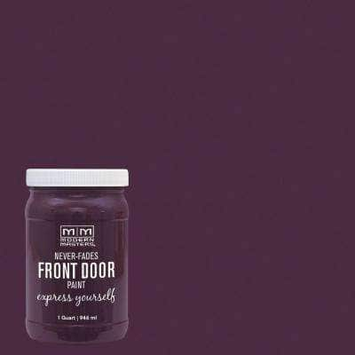 Express Yourself 1 qt. Satin Spontaneous Purple Water-Based Front Door Paint