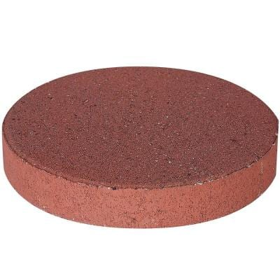 12 in. x 12 in. x 1.75 in. River Red Round Concrete Step Stone (168-Pieces/129 sq. ft./Pallet)