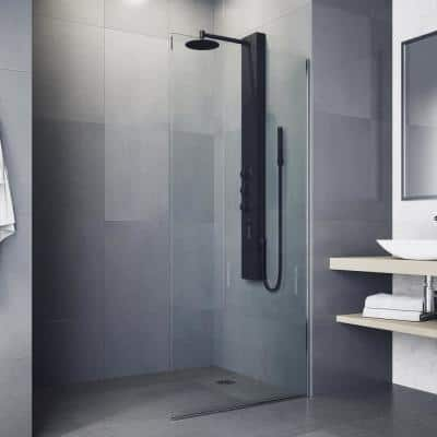 Ellington 59 in. 4-Jet High Pressure Shower System with Fixed Rainhead and Handheld Dual Shower in Matte Black