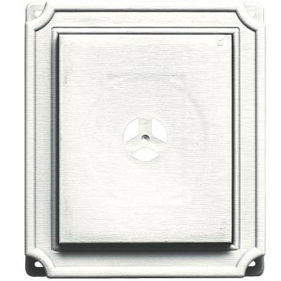 7 in. x 8 in. #123 White Scalloped Mounting Block