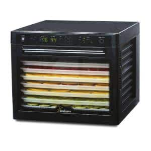 Sedona Rawfood 9-Tray Black Food Dehydrator with Temperature Control