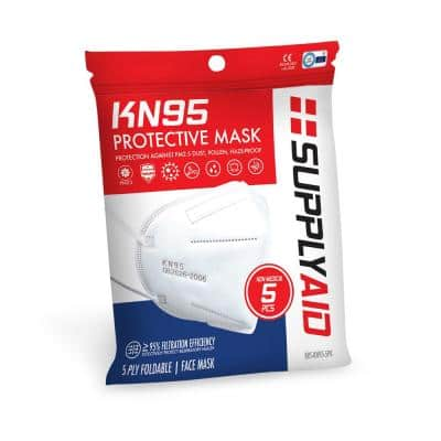 KN95 Protective Face Mask GB2626 Standard (5-Pack)