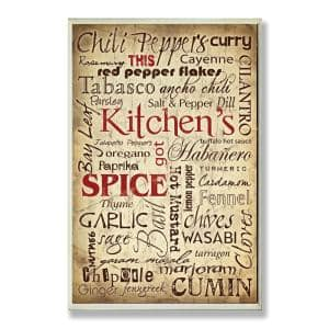 12.5 in. x 18.5 in. ''Kitchen Spice Typography'' by Carole Stevens Printed Wood Wall Art