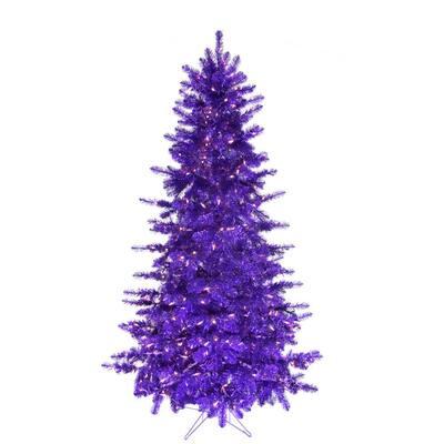 5 ft. Spooky Purple Tinsel Tree