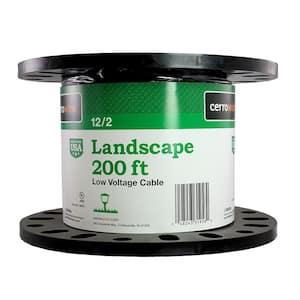200 ft. 12/2 Black Stranded Landscape Lighting Wire