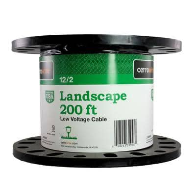 200 ft. 12/2 Black Stranded Landscape Lighting Wire