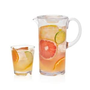 Indoors Out 7-Piece Break-Resistant Lidded Pitcher and Rocks Entertaining Set