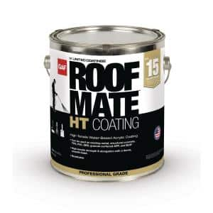 RoofMate HT Top Coat 1 Gal. White High Tensile Acrylic Reflective Elastomeric Roof Coating (15-Year Limited Warranty)