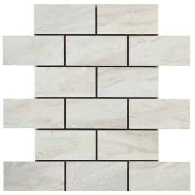 Noble Stone Cloud 12 in. x 12 in. x 8 mm Porcelain Mosaic Floor and Wall Tile (0.83 sq. ft./Each)