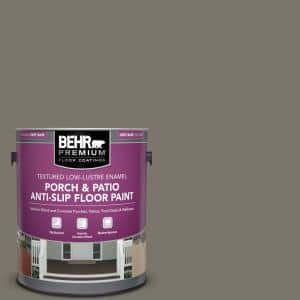 Behr Premium 1 Gal Ppu24 06 Slippery Shale Textured Low Lustre Enamel Interior Exterior Porch And Patio Anti Slip Floor Paint 623001 The Home Depot