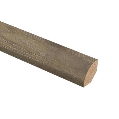 Oak Driftwood Wire Brushed 3/4 in. Thick x 3/4 in. Wide x 94 in. Length Hardwood Quarter Round Molding