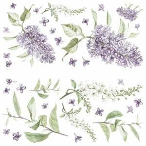 Purple Lilac Peel and Stick Giant Wall Decals