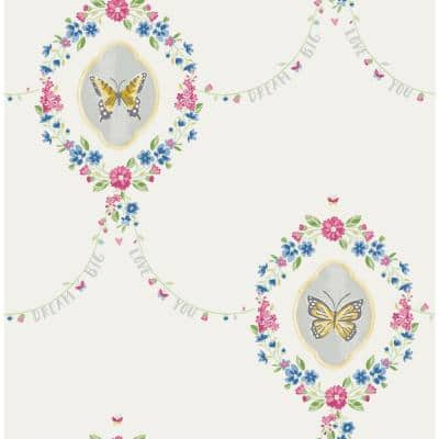 Butterfly Paper Strippable Roll (Covers 56 sq. ft.)