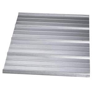 8 ft. SM-Rib Galvanized Steel 29-Gauge Roof Panel in Silver