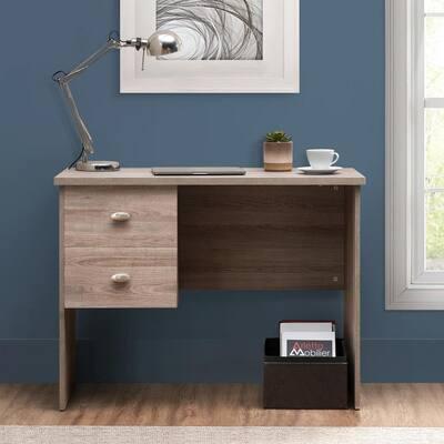Pedestal 39.4 in. Gray MDF 2 Drawer Standing Desk