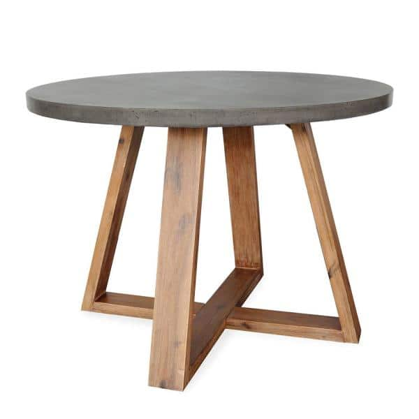 Leisure Made Athens Round Concrete, Round Outdoor Dining Tables