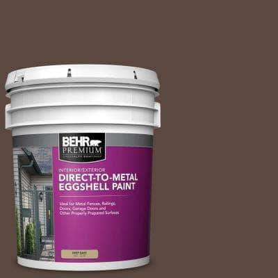 5 gal. #N170-7 Baronial Brown Eggshell Direct to Metal Interior/Exterior Paint