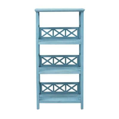 Clear Sailing Blue Sky 48.50 in. 3 Shelf Wooden Bookcase