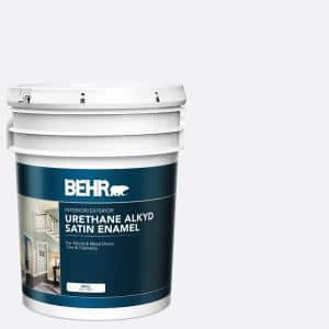 Behr Ultra 5 Gal Ultra Pure White Extra Durable Satin Enamel Interior Paint Primer 775005 The Home Depot