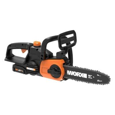 POWER SHARE 20-Volt Li-Ion 10 in. Electric Cordless Chainsaw, Auto-Tension, Auto-Oiling (Battery and Charger Included)