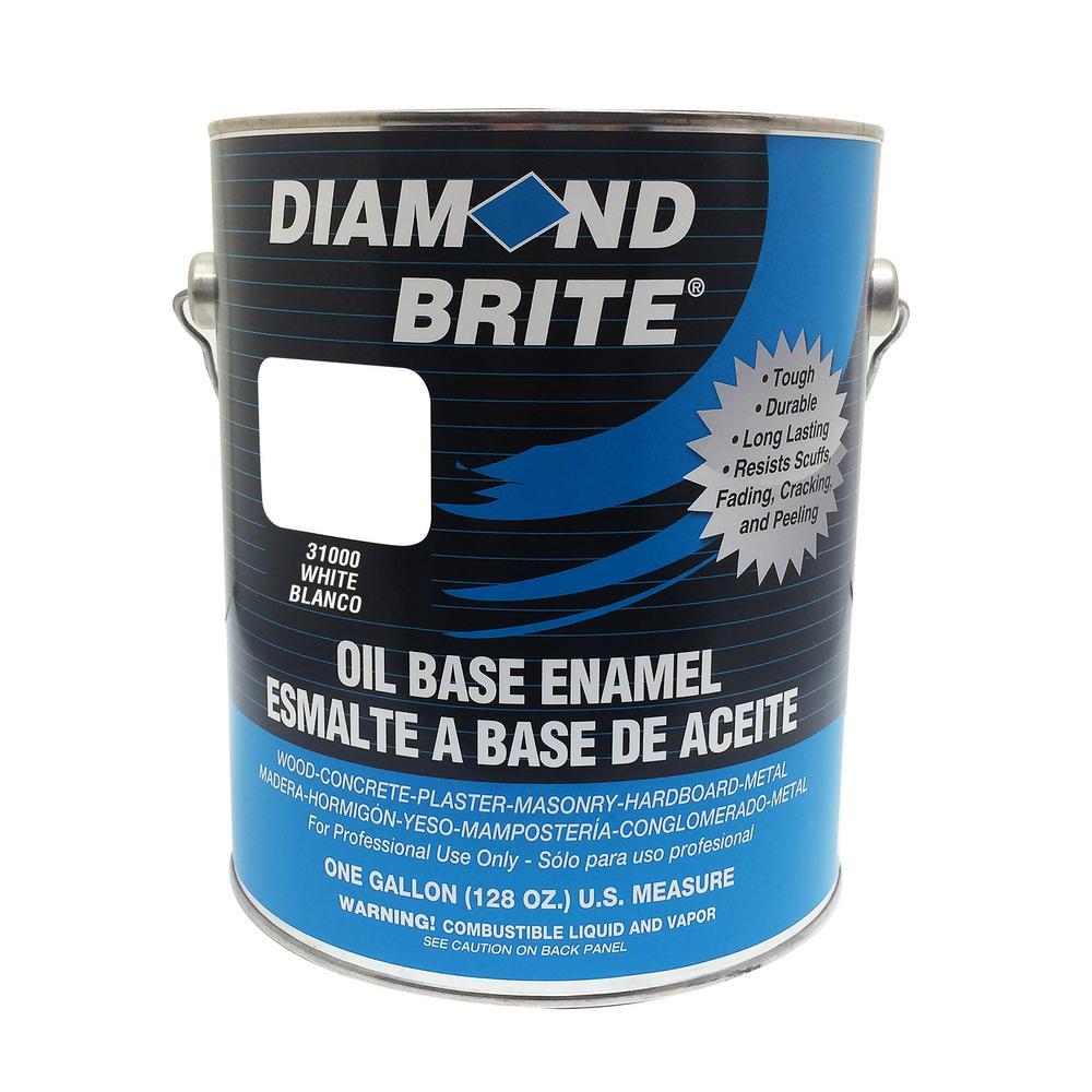 1 Gal. White Oil Base Enamel Interior/Exterior Paint