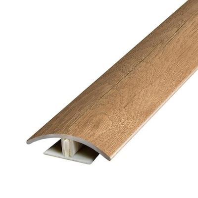 Auklet Oak 0.37 in. T x 1.75 in. W x 78.7 in. L Vinyl 2-in-1 Molding