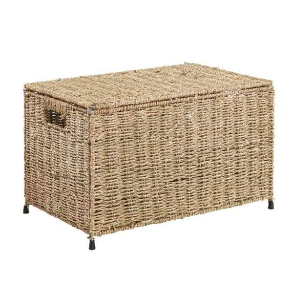 Household Essentials Small Sea Grass, Wicker Storage Trunks And Chests