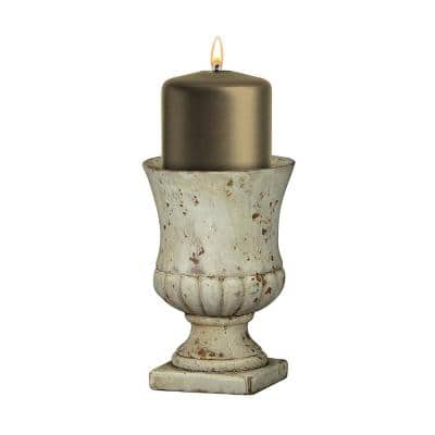 Remus 4.5 in. Small Sandstone Cement Urn Planter