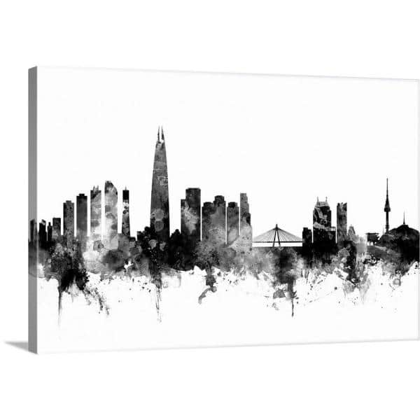 Greatbigcanvas 24 In X 16 In Seoul Skyline South Korea By Michael Tompsett Canvas Wall Art 2526115 24 24x16 The Home Depot