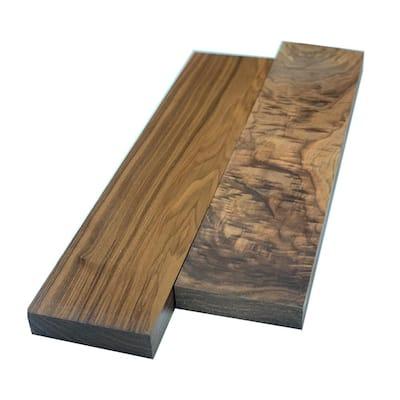 2 in. x 6 in. x 2 ft. Walnut S4S Board (2-Pack)