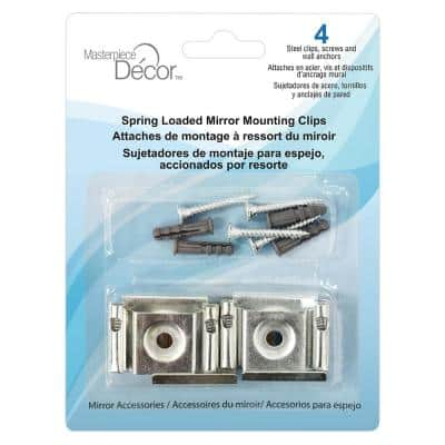 Spring Loaded Mirror Mounting Clips (4-Pack)