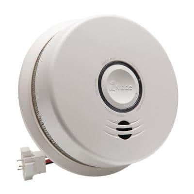 10 Year Worry-Free Hardwired Combination Smoke and Carbon Monoxide Detector with Voice Alarm and Ambient Light Ring