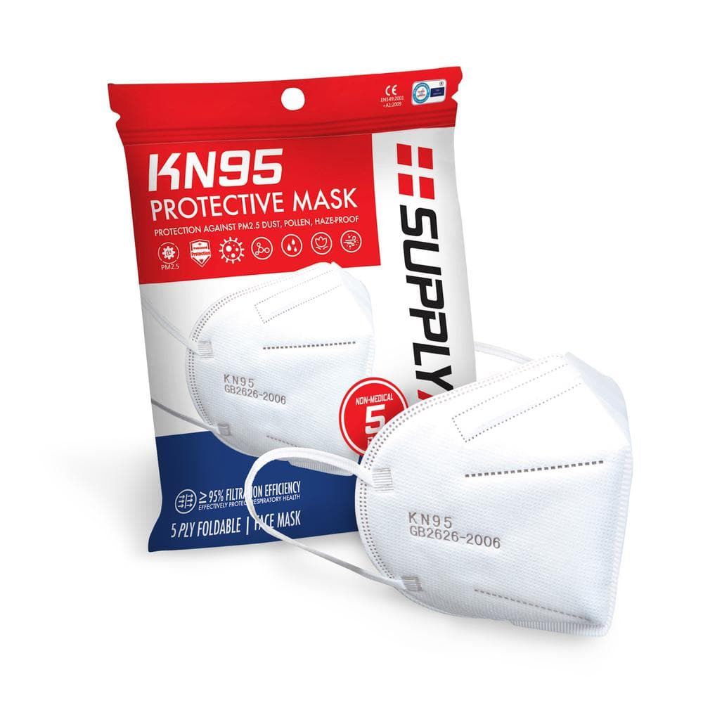 SUPPLYAID KN95 Protective Face Mask GB2626 Standard (5-Pack)