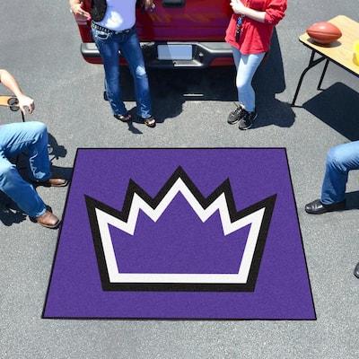 NBA Sacramento Kings Violet 6 ft. x 5 ft. Indoor/Outdoor Tailgater Area Rug