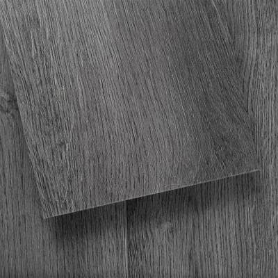 GlueCore Slate Gray 7.25 in. W x 48 in. L Glue Down Luxury Vinyl Plank Flooring (39 sq. ft./case)