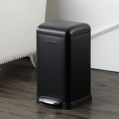 Betty Retro Mini 3.2 Gal. Black Step-Open Trash Can