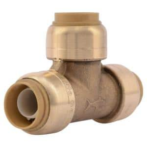 1/2 in. Push-to-Connect Brass Tee Fitting