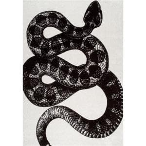 Thomas Paul Serpent Black and White 3 ft. x 5 ft. Indoor Area Rug