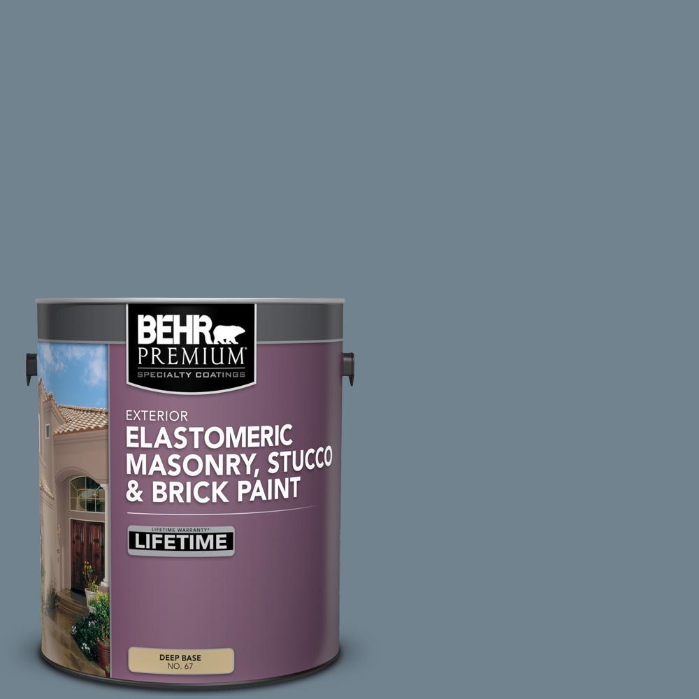 1 gal. #N480-5 Adirondack Blue Elastomeric Masonry, Stucco and Brick Exterior Paint