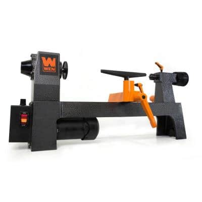 3.2 Amp 8 in. x 12 in. Variable Speed Mini Benchtop Wood Lathe