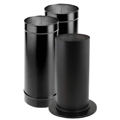 DuraBlack 6 in. x 60 in. Single-Wall Chimney Stove Pipe Kit