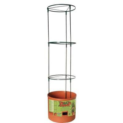 Tomato Barrel Pot Planting System with 4 ft. Trellis Tower