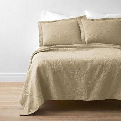 Putnam Matelasse Wheat Cotton Full Coverlet